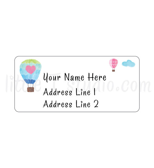 Return Address Labels - Hot Air Balloons - Style 750