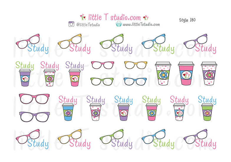 Spring Themed Study Stickers - Style 180