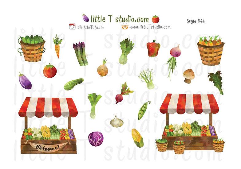 Farmers Market Stickers - Style 644