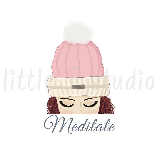Meditate Stickers - Red Hair - Snow Day - Style 1129 or 321M