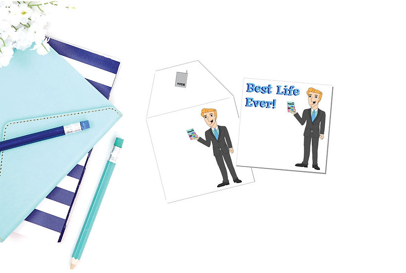 Printable 6 Card Set! Best Life Brothers Gift Cards & Matching Envelopes