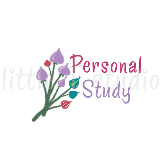 Personal Study Floral Stickers - Style 1006