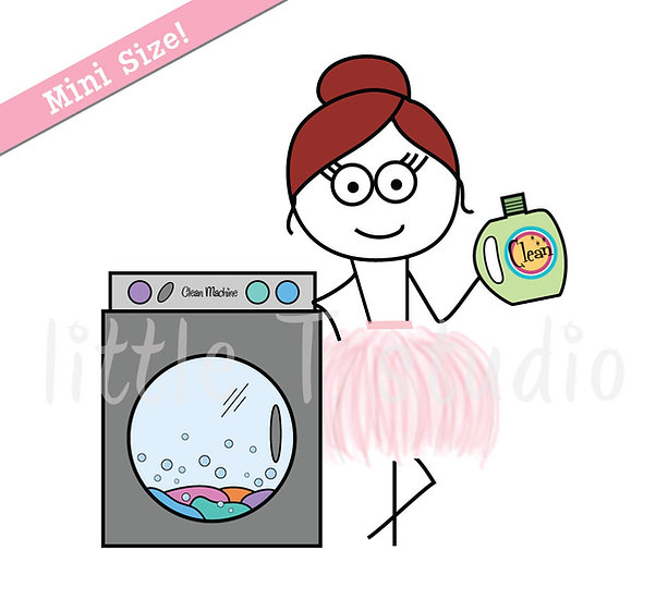 Busy Ballerina Mini Size - Laundry Reminder Stickers - Style 219M