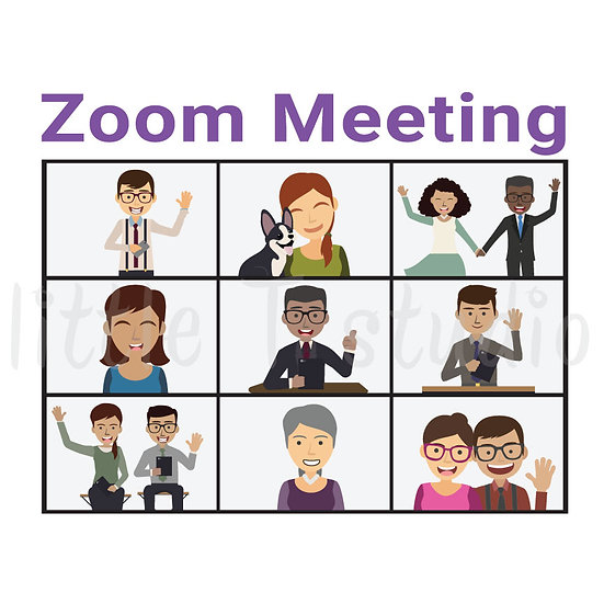 Zoom Meeting Reminder Stickers - Style 1013