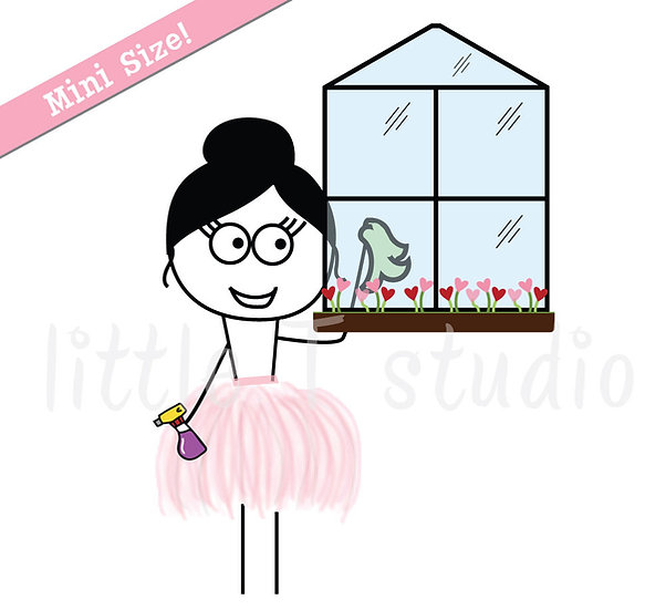 Busy Ballerina Mini Size - Cleaning Stickers - Style 218M
