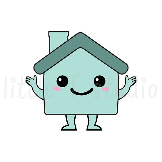 Kawaii Stickers - House - Mortgage, Rent, Repair - Style 010-K