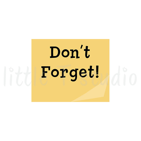 Post Note Reminder Mini Stickers - Style 021M