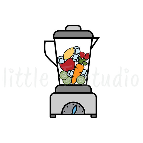 Fruit & Veggies in Blender - Healthy Eating - Mini Size Stickers - Style 180M