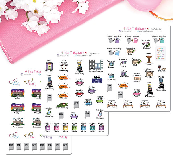 Ultimate Pioneer Sampler Sticker Set 3 Sheets Mini Size -Styles 090M, 091M, 092M