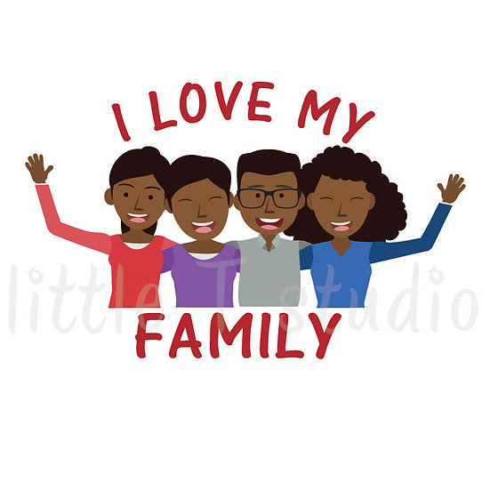 I Love My Family Stickers - Style 1056