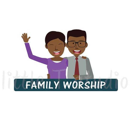 Family Worship Stickers - Style 1060
