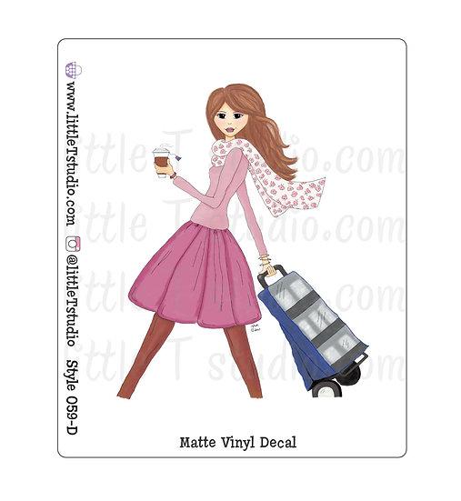 Cart Girl - Vinyl Decal Matte Finish