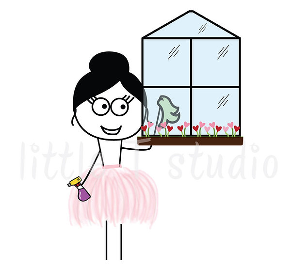 Busy Ballerina - Cleaning Reminder Stickers - Style 218