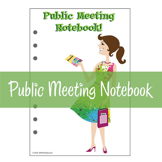 Large Size Print-Ready Public Meeting Notebook & Watchtower Comments