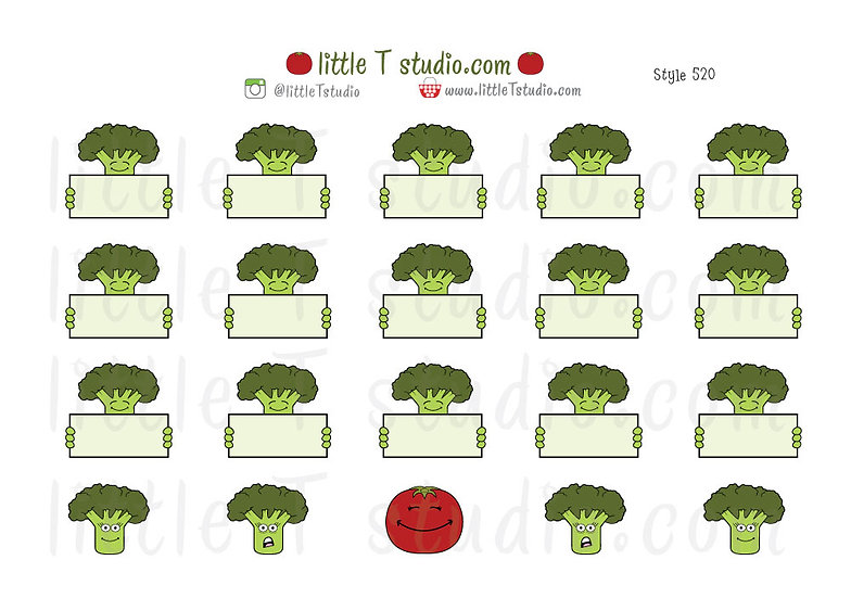 Joys of Life Meal Planning Stickers - Broccoli - Style 520
