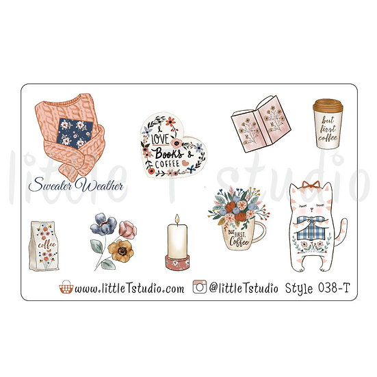 Sweater Weather Stickers - Style 038-T