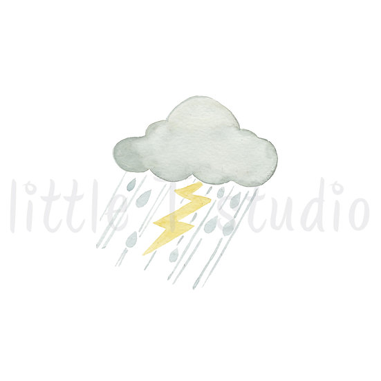 Thunderstorms Stickers - Style 454M or 470M