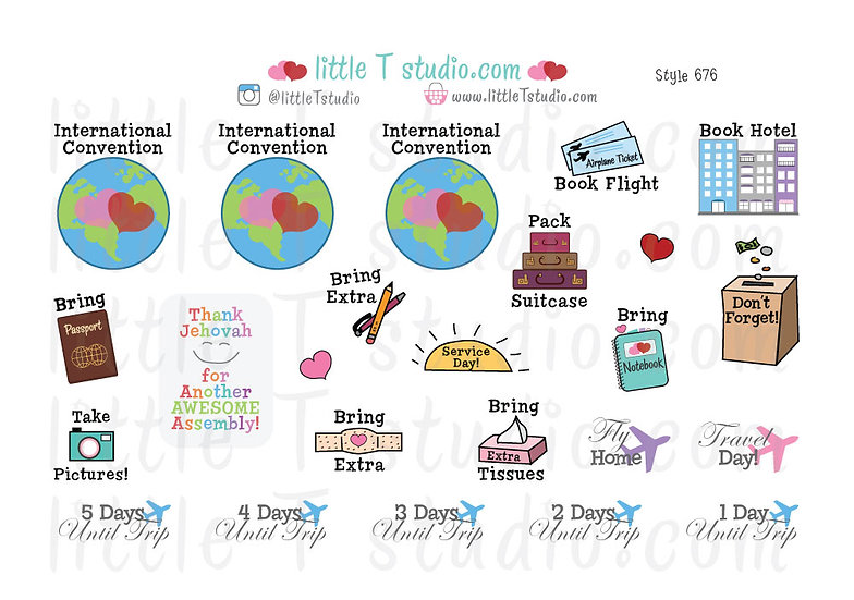 International Convention Variety Sticker Sheet - Style 676