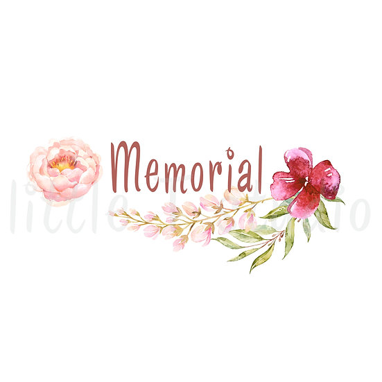 2021 Memorial Floral Frame Stickers - Style 1000 or 159M