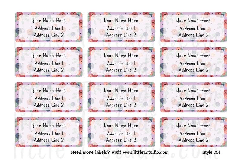Return Address Labels - Spring Florals - Style 751