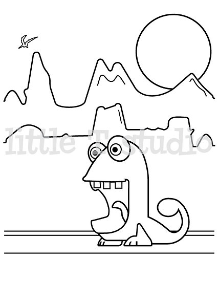 Imaginary Creatures Phil - Kids Coloring Page