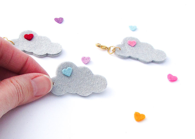 Cloudy Weather Dangle Clip