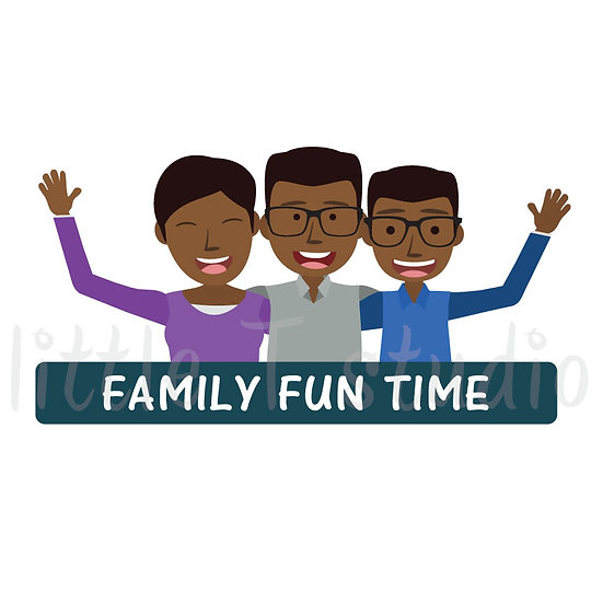 Family Fun Time Stickers - Style 1058