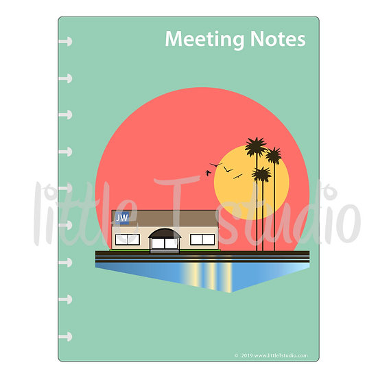 Happy Planner Dashboard Print-Ready PDF - Meeting Notes - Personal Use