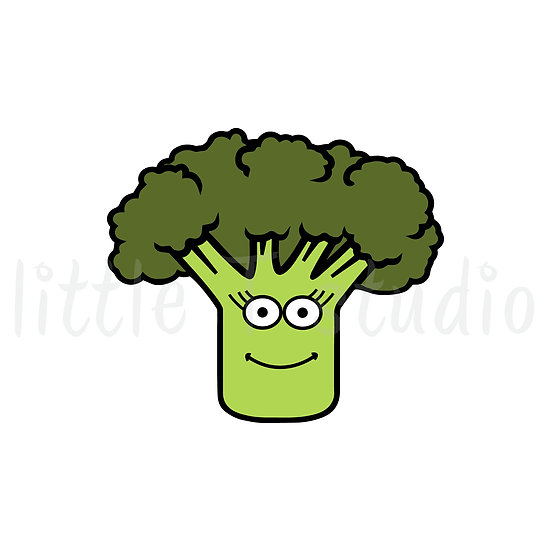 Broccoli Healthy Eating Reminder Mini Size Icon Stickers - Style 146M