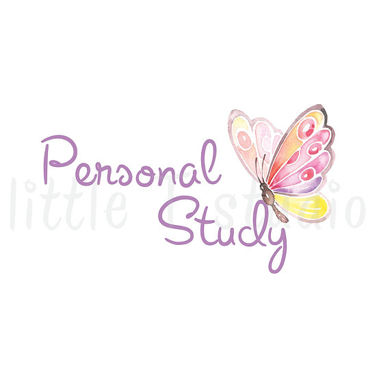 Personal Study Stickers Spring Butterfly - Style 659 or 157M