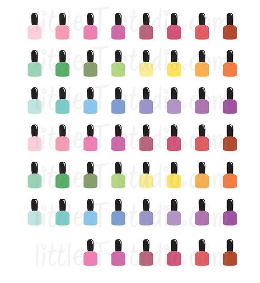 Nail Polish Bottle Mini Stickers - Style 029M