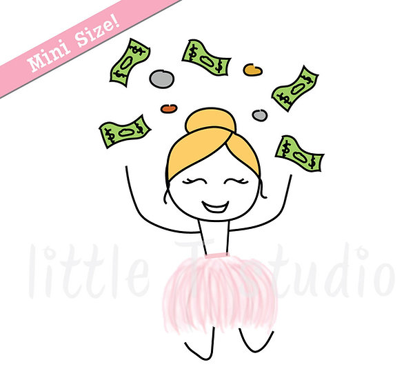 Busy Ballerina Mini Size - Pay Day Stickers - Style 201M