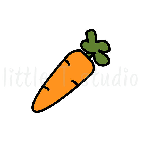 Carrots - Healthy Eating - Mini Size Stickers - Style 181M