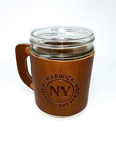 Leather Mason Jar Mug – Tan, Brown or Black