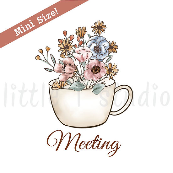 Floral Meeting Mini Size Stickers - Style 436M