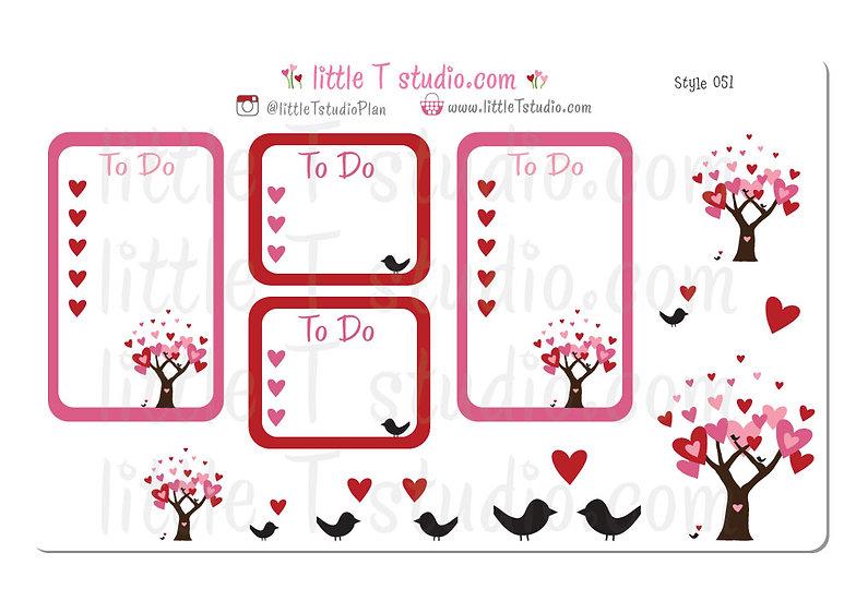Love in Bloom Wedding, Anniversary Party Checklist Set - Style 051