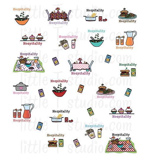 Hospitality Reminder Mini Sticker Variety Pack - Style 025M