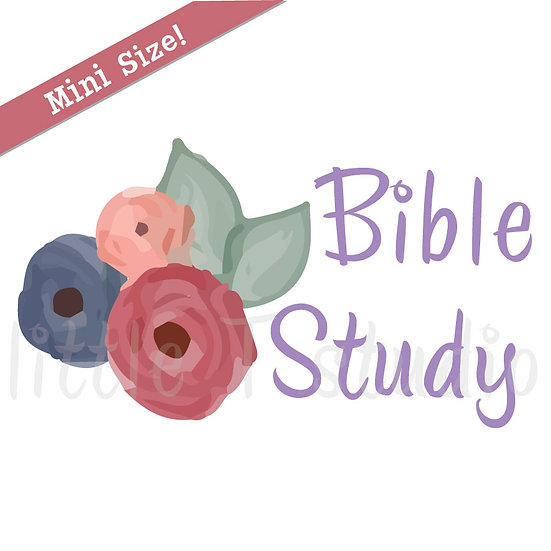 Bible Study Floral Mini Size Stickers - Style 165M