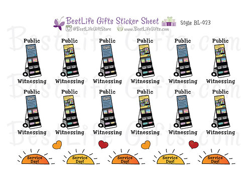 Public Witnessing Stickers - Style BL-023