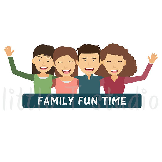 Family Fun Time Stickers - Style 1053