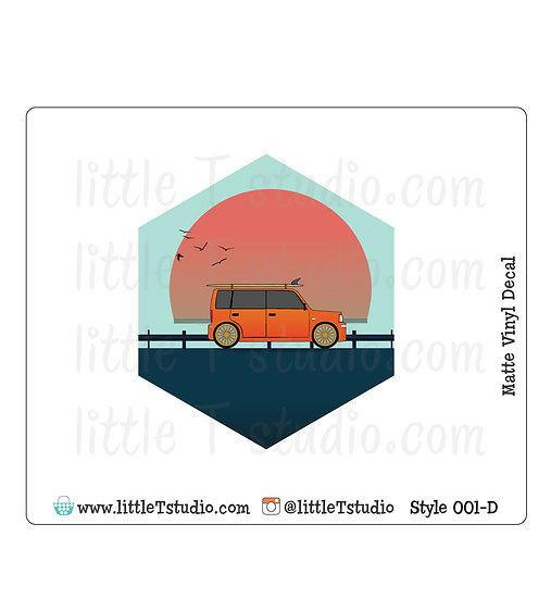Beach Travel - Vinyl Decal Matte Finish - Style 001-D