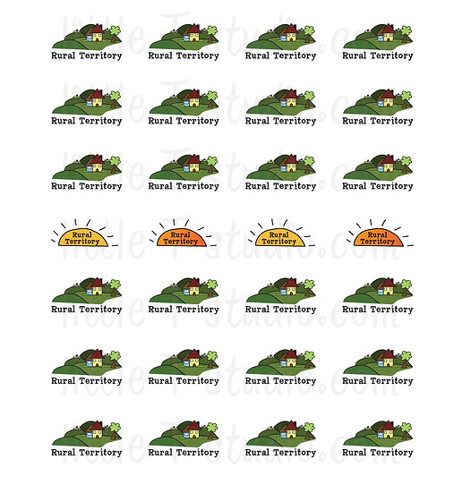 Rural Territory Mini Stickers - Style 057M