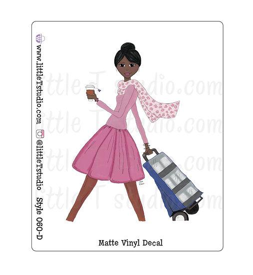 Cart Witnessing Girl - Vinyl Decal Matte Finish
