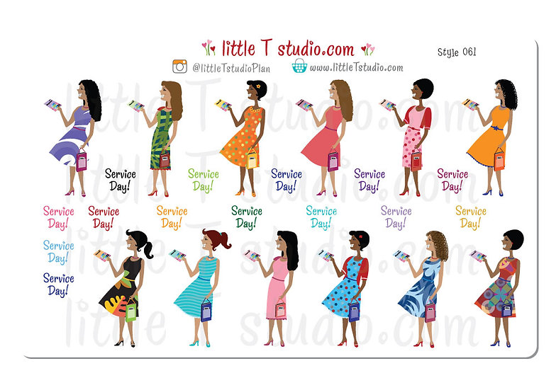 Customized to Look Like You! Happy in the Ministry Multi-Cultural Girls