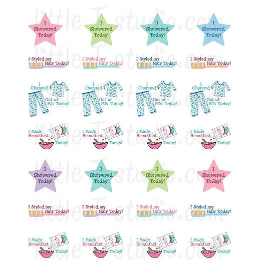 Funny Accomplishments Mini Size Sticker Set 1 - Style 408M