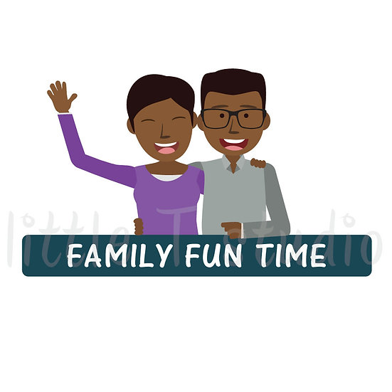 Family Fun Time Stickers - Style 1061