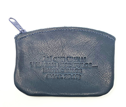Change Purse - Leather - Spanish Embossed Quotes