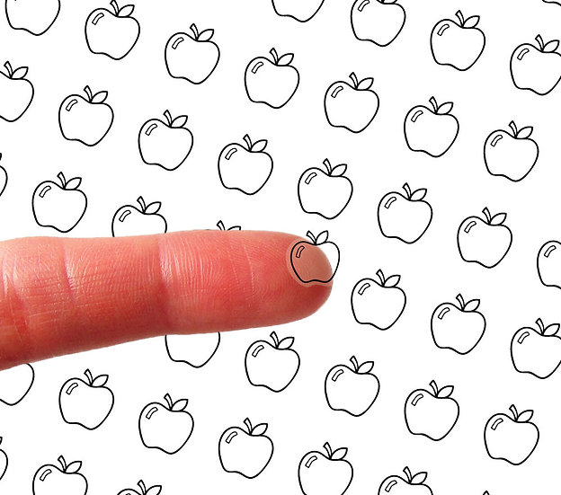 Clear Mini Stickers - An Apple A Day! - Style 023CL