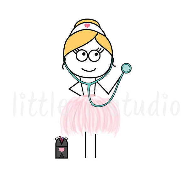 Busy Ballerina - Doctor Appointment Stickers - Style 221