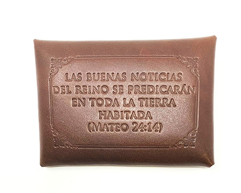 Contact Card Holders - Leather - Spanish Embossed Quotes